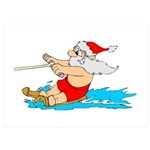 Waterski Santa 5x7 Flat Cards (Set of 20)