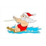 Waterski Santa 5x7 Flat Cards (Set of 10)