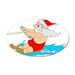 Waterski Santa Wall Sticker