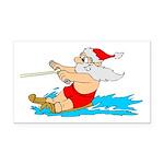 Waterski Santa Rectangle Car Magnet