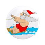 """Waterski Santa 3.5"""" Button"""