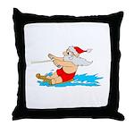 Waterski Santa Throw Pillow