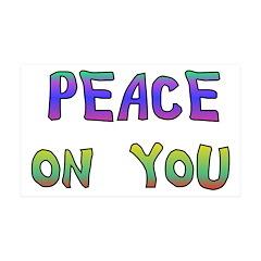 Peace On You 38.5 x 24.5 Wall Peel