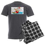 Waterski Santa Men's Charcoal Pajamas