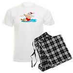 Waterski Santa Pajamas
