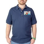 Waterski Santa Dark Polo Shirt