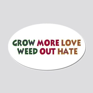 Grow More Love 20x12 Oval Wall Decal