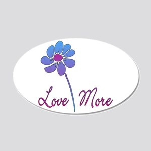 Love More Daisy 20x12 Oval Wall Decal