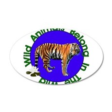 Tatiana The Tiger 22x14 Oval Wall Peel