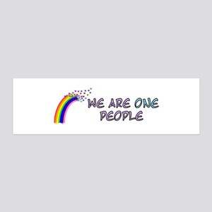 We Are One People 36x11 Wall Decal