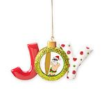 Surfing Santa Joy Ornament