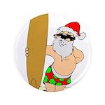 """Surfing Santa 3.5"""" Button"""