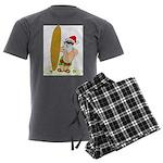 Surfing Santa Men's Charcoal Pajamas