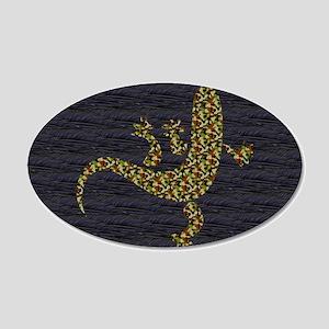 Camouflage Salamander 22x14 Oval Wall Peel
