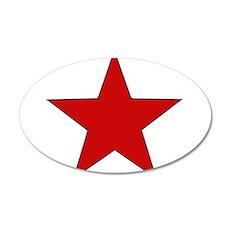 Red Star 22x14 Oval Wall Peel