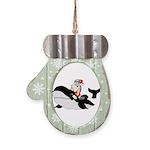 Santa's Whale Safari Mitten Ornament