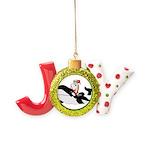 Santa's Whale Safari Joy Ornament