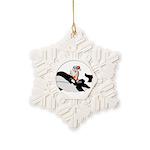 Santa's Whale Safari Snowflake Ornament