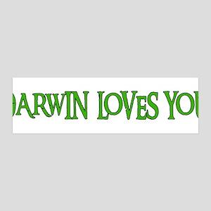 Darwin Loves You 42x14 Wall Peel