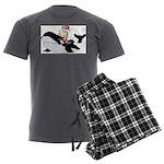 Santa's Whale Safari Men's Charcoal Pajamas