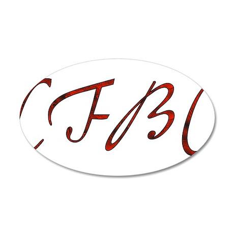 cfbc red logo 22x14 oval wall peel by ursinelogic
