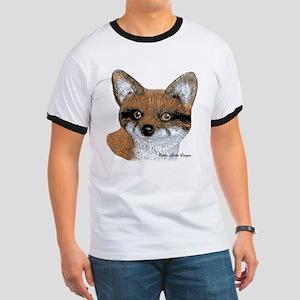 Fox Portrait Design Ringer T