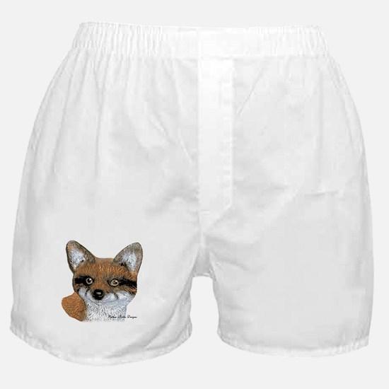 Fox Portrait Design Boxer Shorts