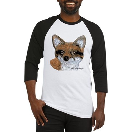 Fox Portrait Design Baseball Jersey