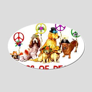 Dogs Of Peace 22x14 Oval Wall Peel