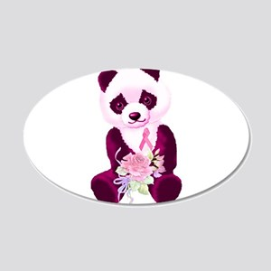 Breast Cancer Panda Bear 22x14 Oval Wall Peel