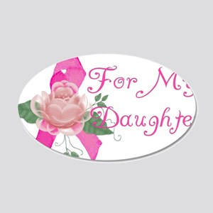 Breast Cancer Support Daughte 22x14 Oval Wall Peel