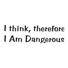 Think Therefore Dangerous 42x14 Wall Peel