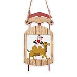 Camel Rodeo Santa Sled Ornament