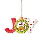 Camel Rodeo Santa Joy Ornament