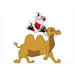 Camel Rodeo Santa 5x7 Flat Cards (Set of 10)