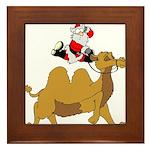 Camel Rodeo Santa Framed Tile
