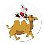 Camel Rodeo Santa Round Car Magnet