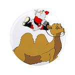 """Camel Rodeo Santa 3.5"""" Button"""