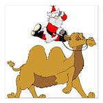 "Camel Rodeo Santa Square Car Magnet 3"" x 3"""