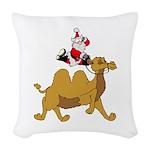 Camel Rodeo Santa Woven Throw Pillow