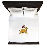 Camel Rodeo Santa King Duvet