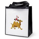 Camel Rodeo Santa Reusable Grocery Tote Bag