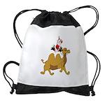 Camel Rodeo Santa Drawstring Bag