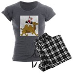 Camel Rodeo Santa Women's Charcoal Pajamas