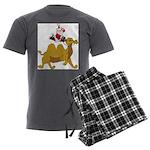 Camel Rodeo Santa Men's Charcoal Pajamas