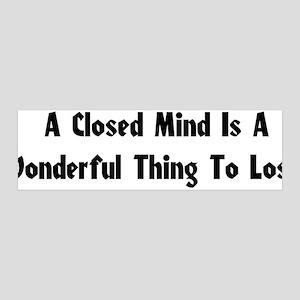 Closed Minds 42x14 Wall Peel