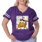 Camel Rodeo Santa Women's Plus Size Football T-Shi