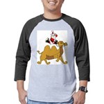 Camel Rodeo Santa Mens Baseball Tee
