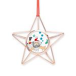 Scuba Diving Santa Copper Star Ornament