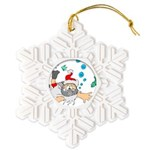 Scuba Diving Santa Snowflake Ornament